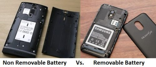 non-removable vs removable battery