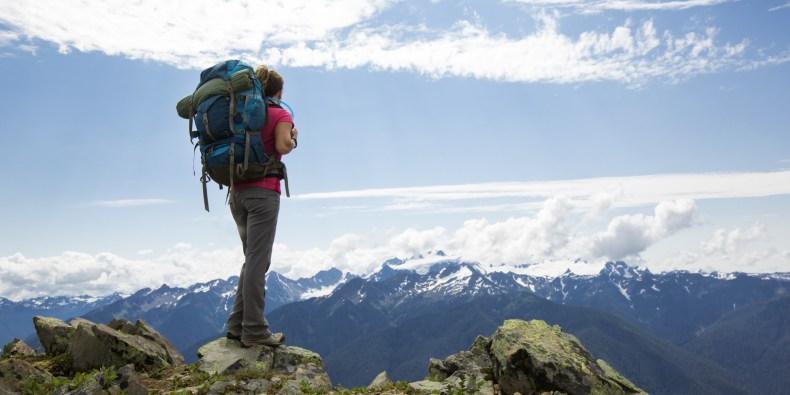 Imge Source Huffington Pos: Woman hiking outdoors