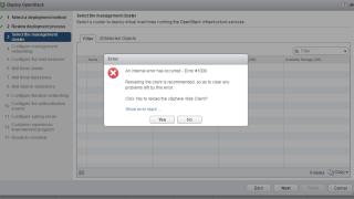 An internal error has occurred - Error #1009 - VIO Deployment Error