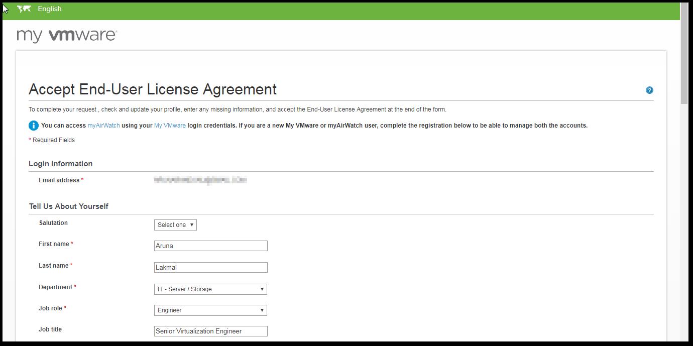 VMware Cloud on AWS EULA