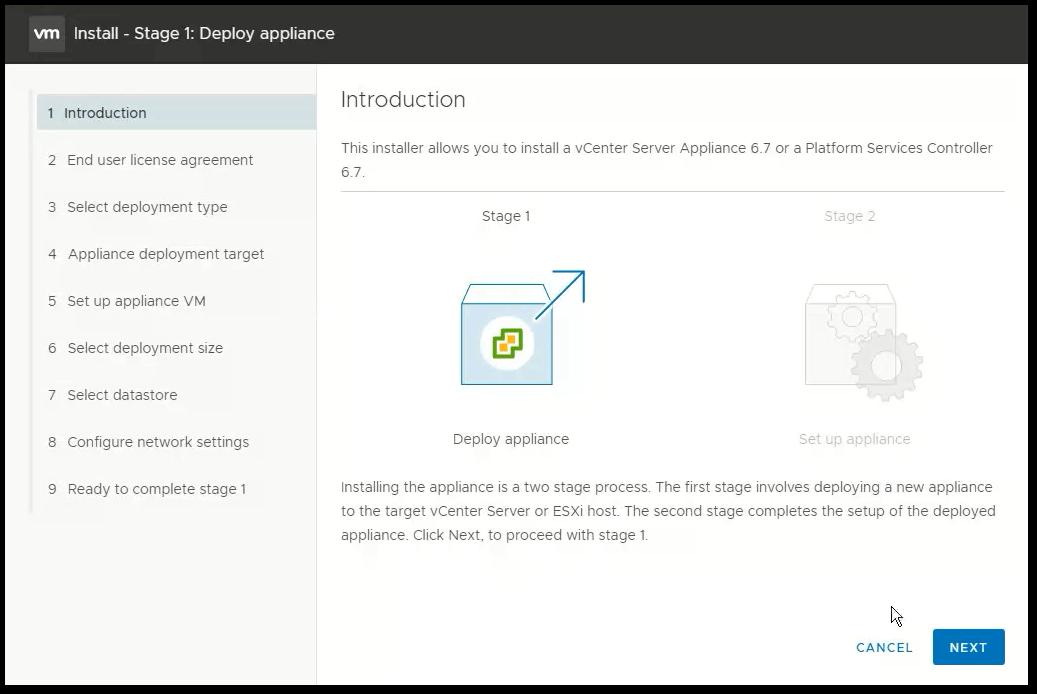 vCenter Server 6.7 : Introduction