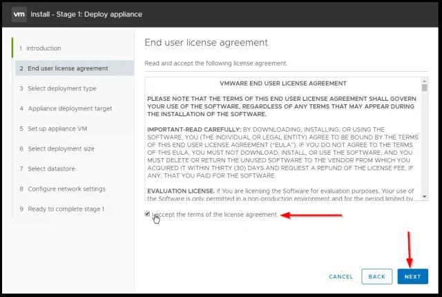vCenter Server 6.7 : EULA