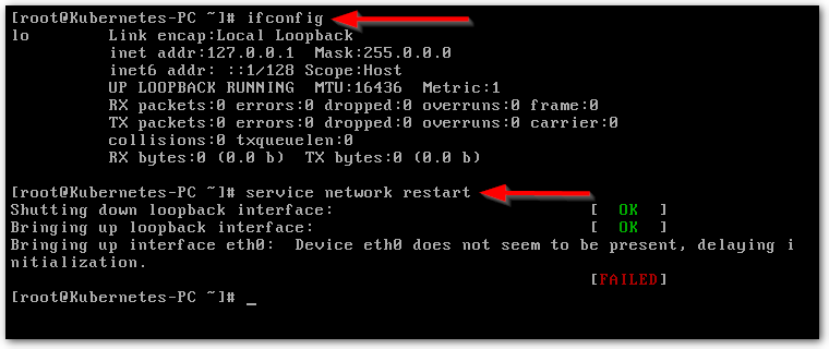 cloned-linux-virtual-machine-doesnt-connecting-to-the-network : ifconfig