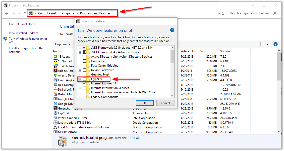 VMware Workstation and Device/Credential Guard are not compatible. : Hyper-V