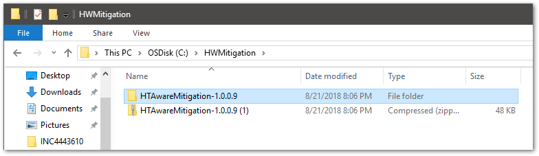 How To Use HTAware Mitigation Tool : extract