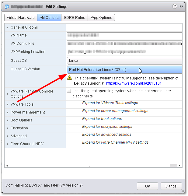 CPU Hot Add And Memory Hot Plug Features Are Grayed Out : VM Options