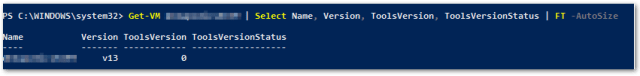 VMware Tools 10.3.0 : Check with New Property