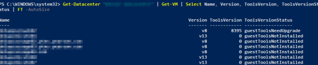 VMware Tools 10.3.0 : Entire Datacenter Check