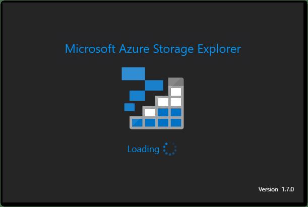 Microsoft Azure Storage Explorer : Starting