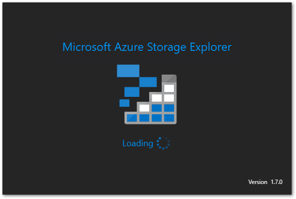 Microsoft Azure Storage Explorer : Starting
