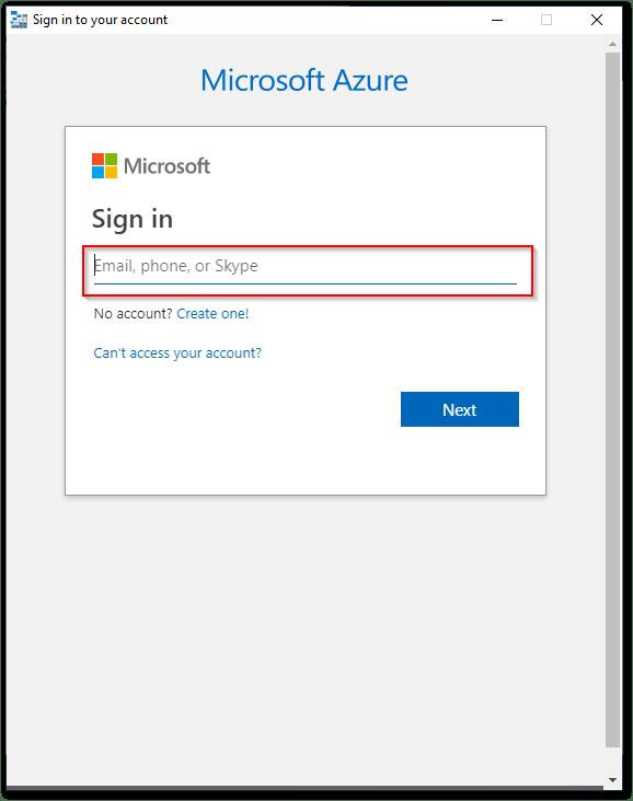 Microsoft Azure Storage Explorer : Email