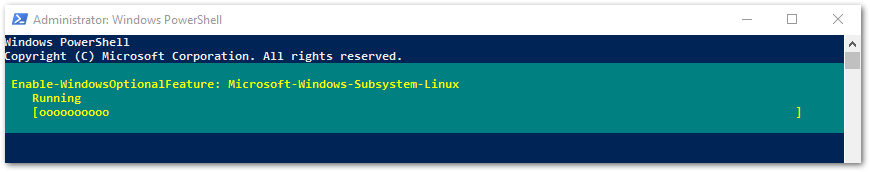 Windows Subsystem for Linux : Running PowerShell Command