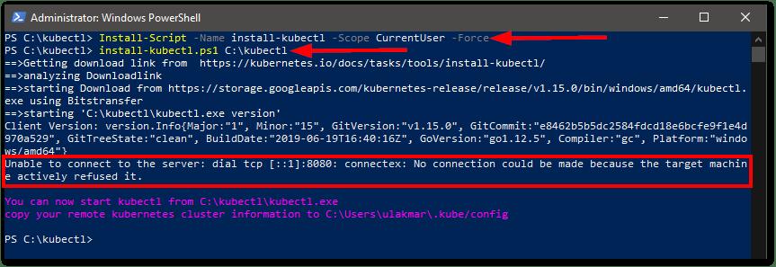 install kubectl on Windows install