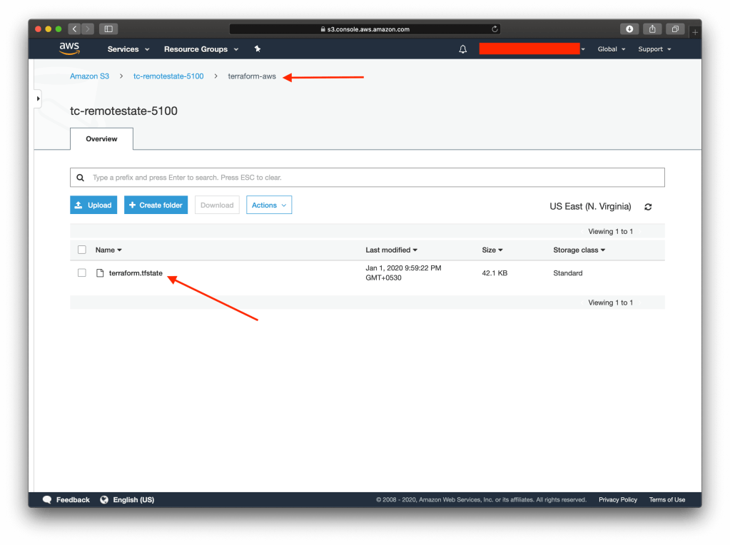 AWS Backend With S3 And DynamoDB state file
