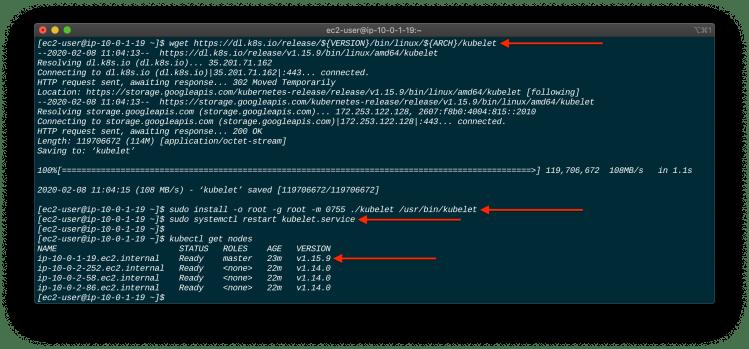 Upgrade A Kubernetes Cluster Using Kubeadm master version
