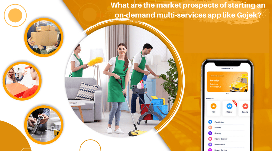 What are the market prospects of starting an on-demand multi-services app like Gojek?