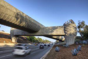 "The ""basket bridge"" of the Los Angeles Metro system"