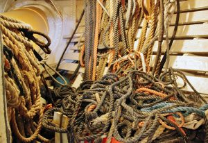 A tangle of cordage