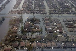 Flooding from Hurricane Katrina in New Orleans, 2005.