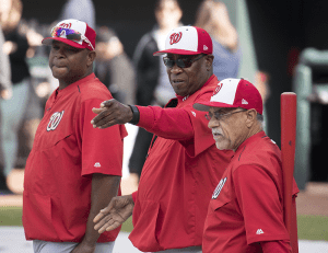 Dusty Baker as Manager of the Washington Nationals in 2017