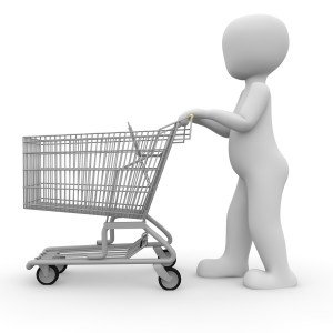 child with a shopping cart