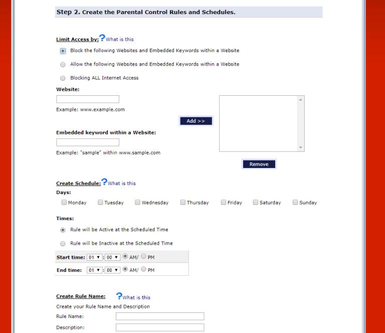 verizon router settings screenshot