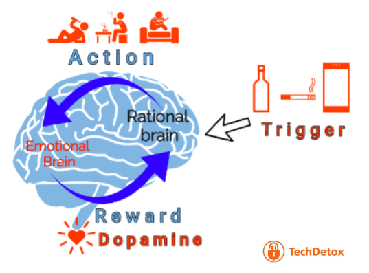 Dopamine loop illustration techdetoxbox.com