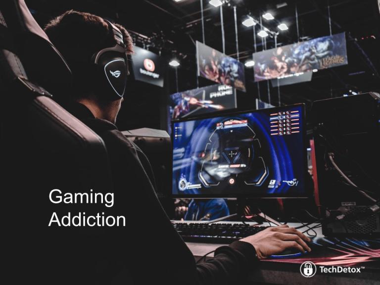 Gaming addiction techdetoxbox.com