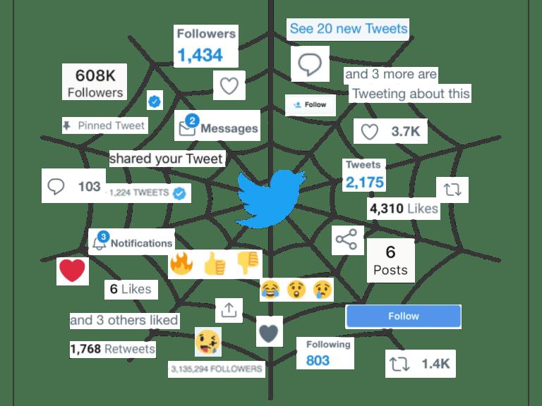 Twitter as a spiderweb techdetoxbox.com