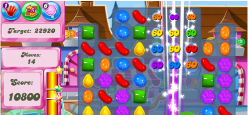 digital goals graphic candy crush example
