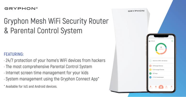 gryphon parental controls router