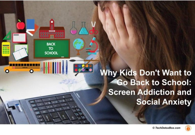 COVID-Scared Kids Don't Want to Go Back to School: Screen Addiction and Social Anxiety www.techdetoxbox.com