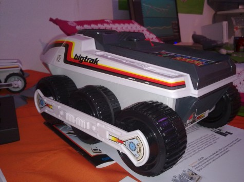 """The Bigtrak is back! If you're too lazy to pass the remote to your pal on the other couch, you can painstakingly program the Bigtrak to drive over and do it for you, storing up to 16 commands. £34.99, you can <a href=""""http://www.firebox.com/product/2734"""