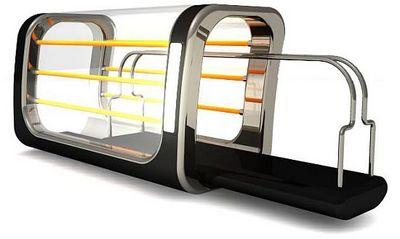 dt08 see through slide toaster no more burnt toast or. Black Bedroom Furniture Sets. Home Design Ideas