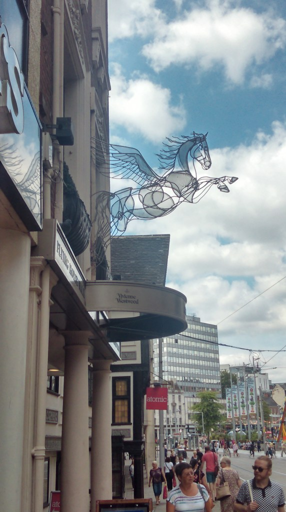 Flying horse with HDR