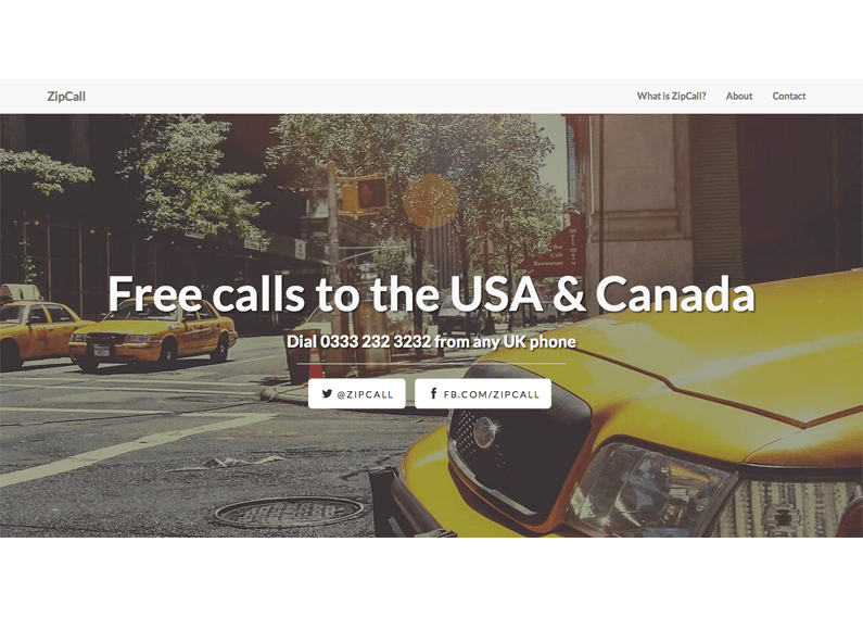 ZipCall claims to offer completely free calls to US and