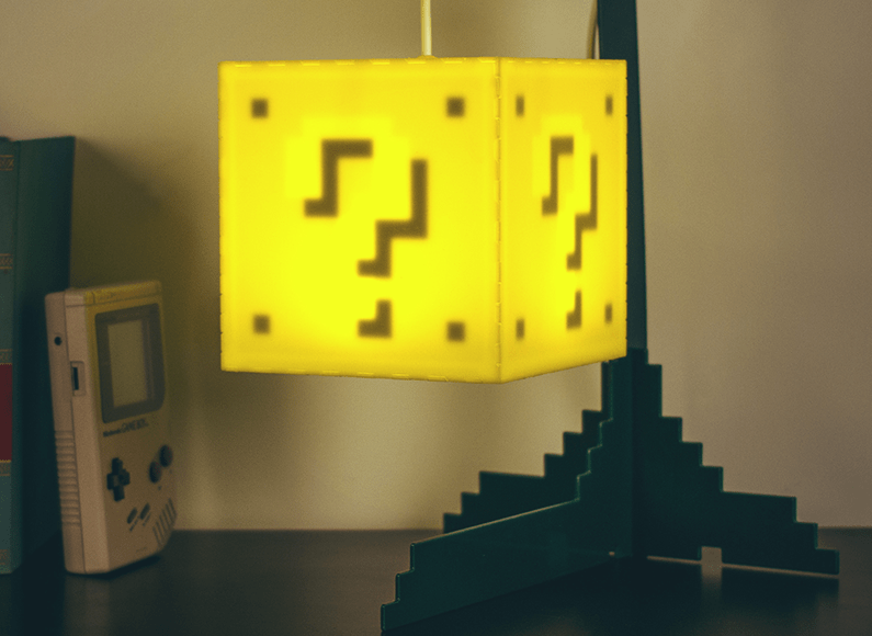 Check This Out U2013 Retailer Firebox Has Just Started Selling This Mario Question  Block Lamp, Just Like Out Of The Old Mario Games.