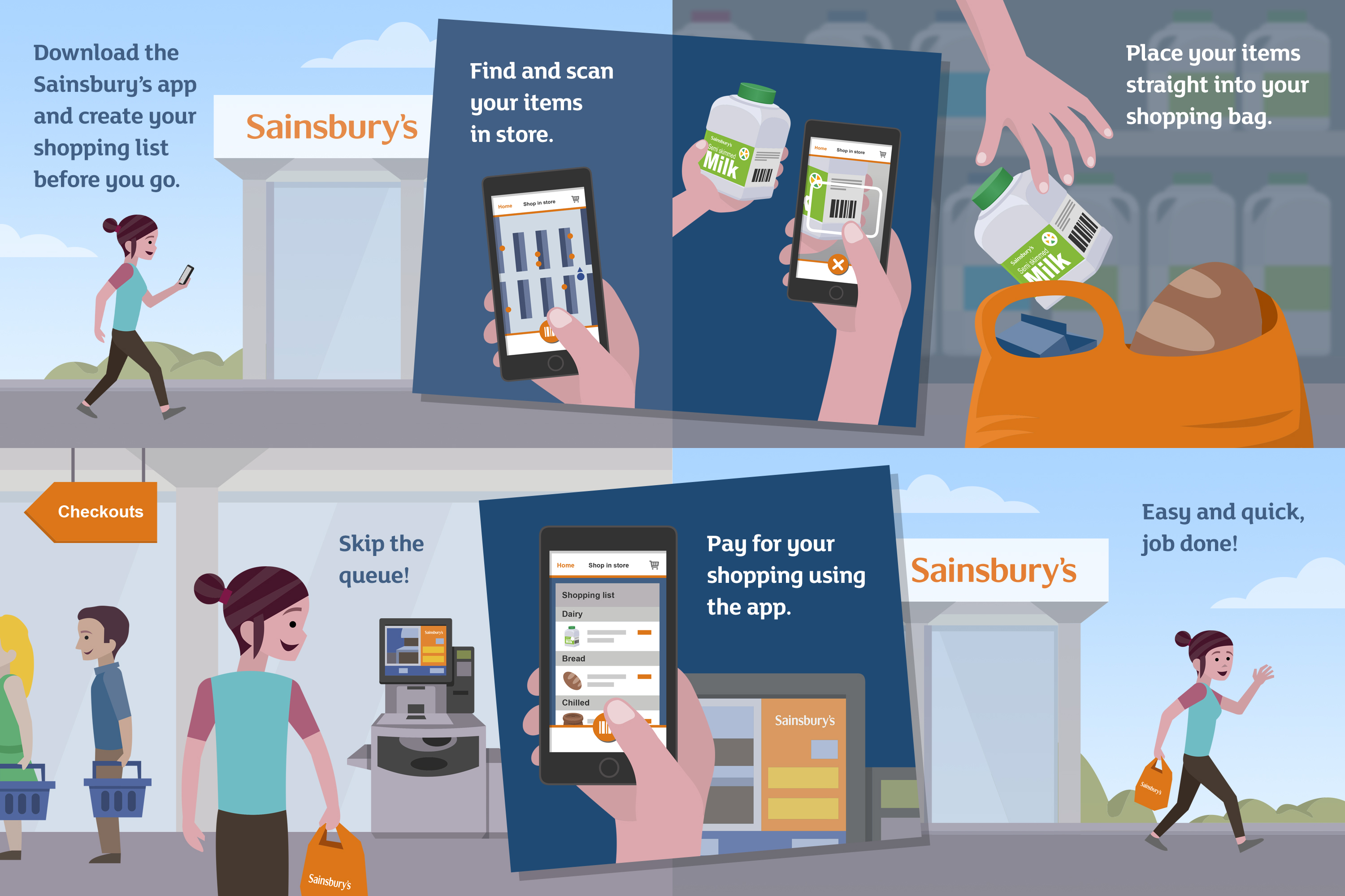 sainsbury s launches in store app payments tech digest