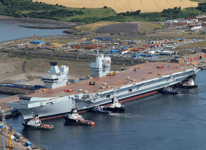 """HMS Queen Elizabeth in Rosyth Dockyard MOD 45158230"" by HMS Gannet"