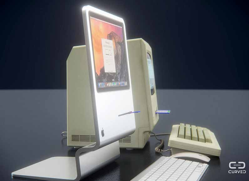 Apple iMac concept design inspired by the original Macintosh ...