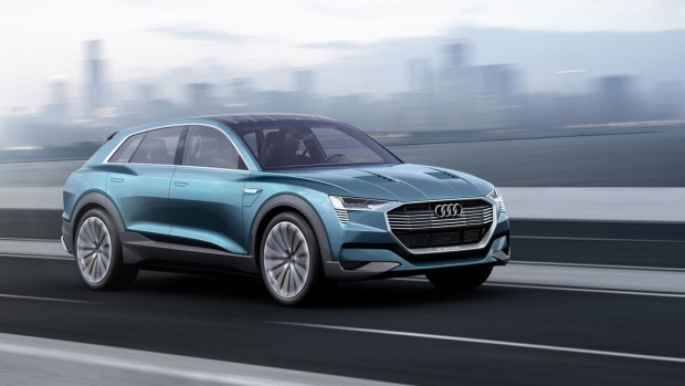 Audi's e-tron quattro concept car was unveiled in Germany. The manufacturer claims a range of 500 kilometres.
