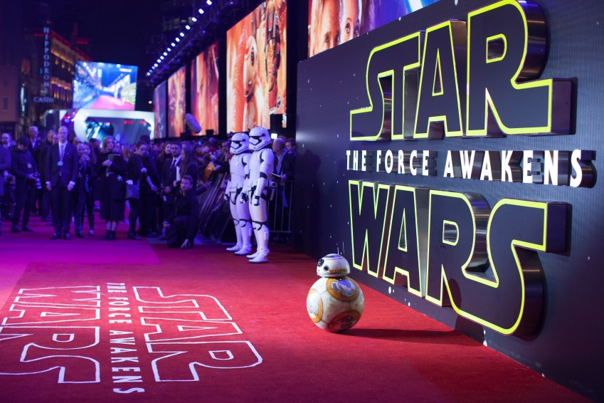 LONDON, UK - DECEMBER 16: Droid BB8 attends the European Premiere of the highly anticipated Star Wars: The Force Awakens in London on December 16, 2015.