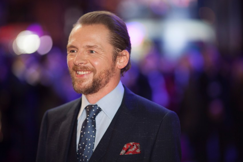 LONDON, UK - DECEMBER 16: Actor Simon Pegg attends the European Premiere of the highly anticipated Star Wars: The Force Awakens in London on December 16, 2015.