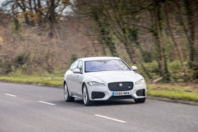 The new 2016 Jaguar XF S.