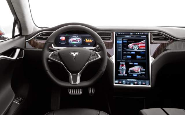 The hi-tech interior of Tesla's Model 3