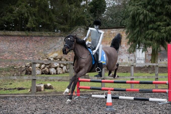 - The Robot Jockey takes on a fence 2 1030x687 - Robot jockey announced ahead of this week's Cheltenham Festival