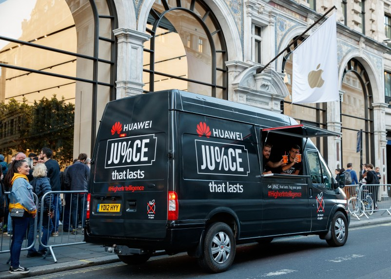- download - Rival mobile phone company Huawei tries to spoil Apple's big day with 'Apple free juice bar'