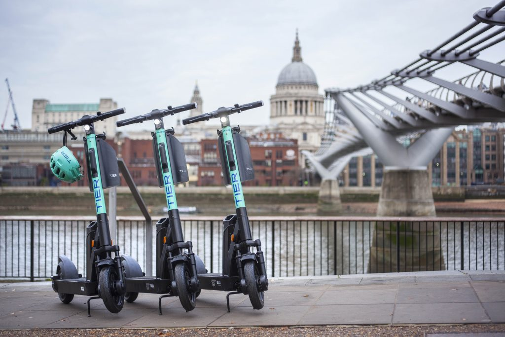 TIER chosen as one of London's official e-scooter operators