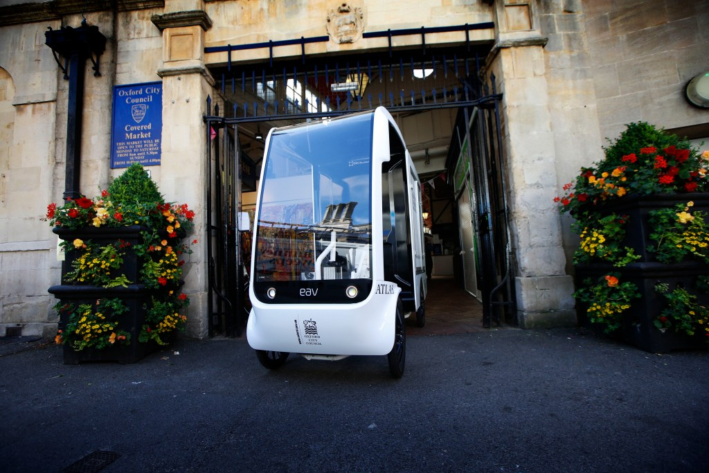 EAV delivers electric vehicles to Oxford's covered market