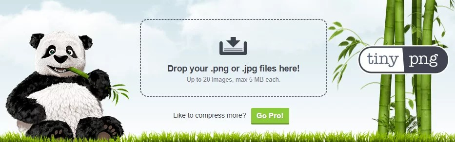Tinypng online image shrinking tool